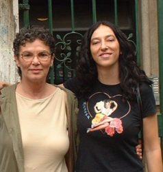 io (Monica Turrini) e Adriana Rame